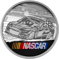 2016 NASCAR - 1 oz. Pure Silver Medallion.