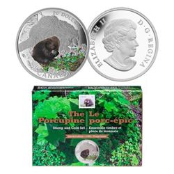 RCM Stamp and Coin Set 'The Porcupine' LE-4000 - .