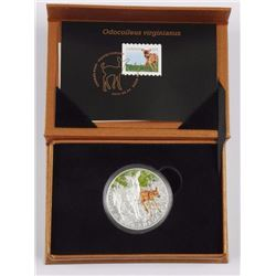 2015 $20 Fine Silver Baby Animals: White-Tailed De