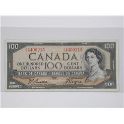Bank of Canada 1954 - $100.00 B/C.