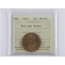 (L32) 1917 Canada Large Cent MS-63 Red & Brown, IC