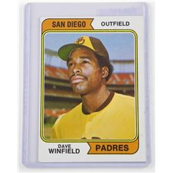 Dave Winfield - 'San Diego' 'TOPPS' Rookie Card (I