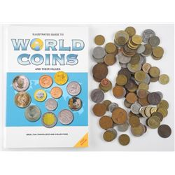 Lot World Coins with Guide Book.