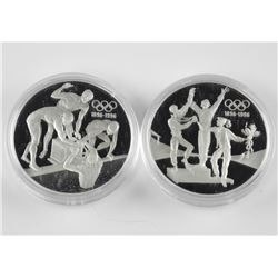 2x Australia 1993 - $20.00 Olympic Silver Coins