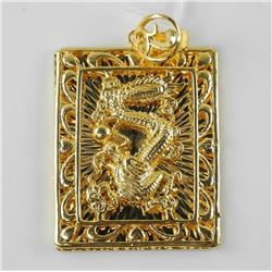 24kt Gold overlay Plated Pendant 'Dragon' (ER)