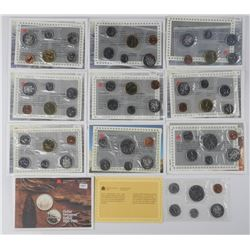 (10) RCM - UNC Coin Sets - 1980-1990.