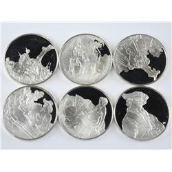 6x .925 Silver Masters Collector Round Bullion.