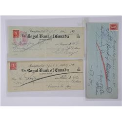 Lot (3) Cancelled Cheques: Royal Bank and Bank of