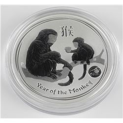 Australia .999 Fine Silver Coin 'Year of Monkey' 1