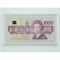 Bank of Canada 1000.00 Note Cased