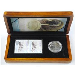 The Walrus and The Calf - LE Stamp and Coin. Wood