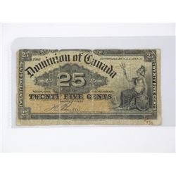 1900 - Dominion of Canada Twenty Five Cents 'Bovil