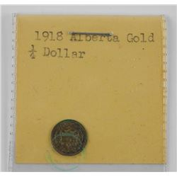1918 Alberta Gold 1/4 Dollar Coin