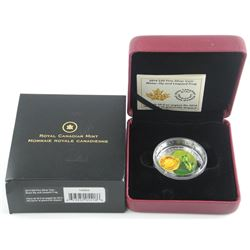 2014 - .9999 Fine Silver $20.00 Coin 'Water Lily & Leopard Frog' Mintage 12,500 Archived. Hand Craft