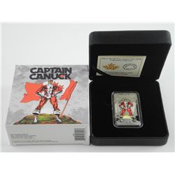 'Captain Canuck' 2018 Pure Silver Coloured Coin, 1oz, Mintage 3500, Sold Out. $20.00 Face 1975 Comic