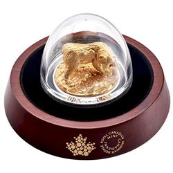RCM - 'Majestic Canadian Animals' 'Grizzly Bear' 10oz. 99.99% Pure Silver, Gold Plated Coin, Mintage