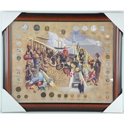 Coins of the 20th Century Collector Frame - Silver Years Gallery Frame 20x22.