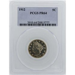 1912 Liberty V Nickel Proof Coin PCGS PR64