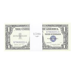 Lot of (23) Consecutive 1957A $1 Silver Certificate Notes Uncirculated