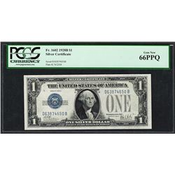 1928B $1 Funnyback Silver Certificate Note Fr.1602 PCGS Gem New 66PPQ