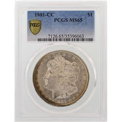 1881-CC $1 Morgan Silver Dollar Coin PCGS MS65