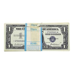 Pack of (100) Consecutive 1957 $1 Silver Certificate STAR Notes