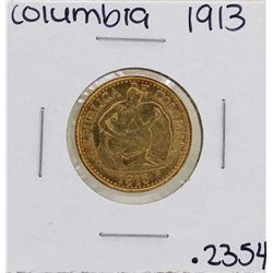 1913 Columbia 5 Pesos Gold Coin