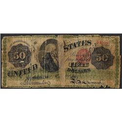 1863 $50 Legal Tender Contemporary Counterfeit Note
