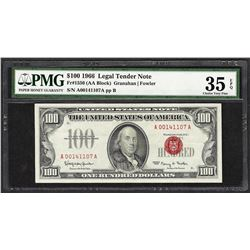 1966 $100 Legal Tender Note Fr.1550 PMG Very Fine 35EPQ