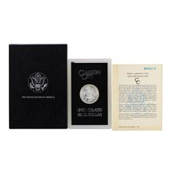 1885-CC $1 Morgan Silver Dollar Coin GSA Uncirculated w/ Box & COA