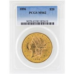 1896 $20 Liberty Head Double Eagle Gold Coin PCGS MS62