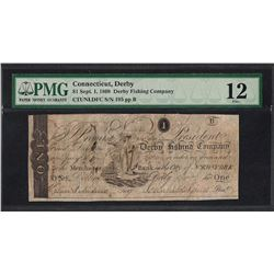 1808 $1 Derby Fishing Company Obsolete Note PMG Fine 12