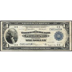 1918 $1 Federal Reserve Bank Note Philadelphia
