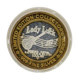 .999 Silver Lady Luck Casino Lula, MS $10 Limited Edition Gaming Token