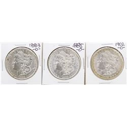 Lot of New Orleans Mint 1883, 1885, & 1902 $1 Morgan Silver Dollar Coins