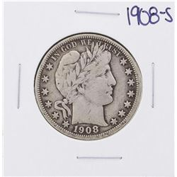 1908-S Barber Half Dollar Coin