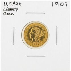 1907 $2 1/2 Liberty Head Quarter Eagle Gold Coin