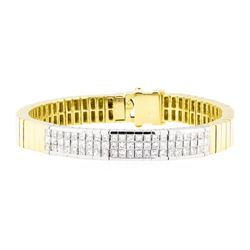 18KT Yellow and White Gold 4.00 ctw Diamond Bracelet