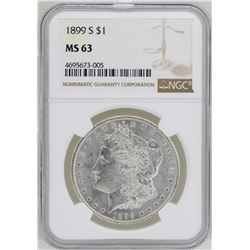 1899-S $1 Morgan Silver Dollar Coin NGC MS63