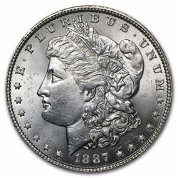 1887 Morgan Silver Dollar BU MS-63