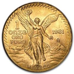 Mexico 1 oz .999 Pure Gold Libertad BU MS-63