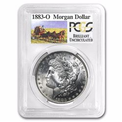 1883-O RARE Stage Coach Series Morgan Silver Dollar BU PCGS Graded in slab