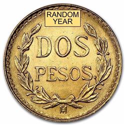 Mexico Gold 2 Pesos AGW .0482