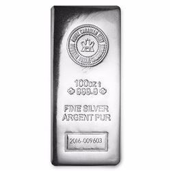 100 oz Silver Bar - RCM (.9999 Fine, Pressed Finish)