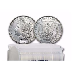 1878-1904 Morgan Silver Dollars ALL BU MS-63 (20-Count Roll Mixed Years)