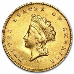 $1 Indian Head Gold Type 2 Coin minted Years 1849-1889 smallest Gold coin ever produced