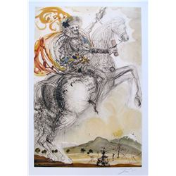 "Salvador Dali DON QUIXOTE Limited Edition Plate Signed Lithograph 33""x22"""