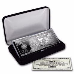 4 oz .999 Pure Silver Bar  $100 Bill (W/Box & COA)