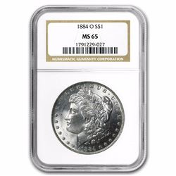 1884-O Morgan Dollar MS-65 NGC HIGH GRADE