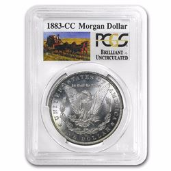 1883-CC RARE SERIES Stage Coach Morgan Silver Dollar BU PCGS